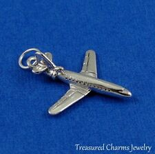 Silver AIRPLANE Jet Plane Travel CHARM PENDANT *NEW*