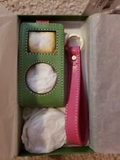 Kate Spade Mini iPod Case green pink New With Tags AS187376XX Katy Leather