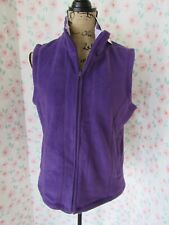 CAROLYN TAYLOR, WOMEN'S NEW PURPLE SLEEVELESS FULL ZIP FLEECE VEST, SIZE S