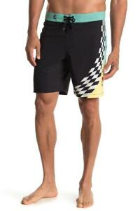 VANS Checked Out Black Checkered Board Shorts Size 32