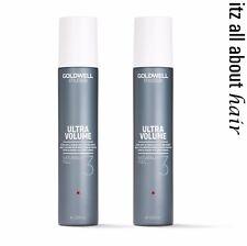 GOLDWELL StyleSign Naturally Full 3 Blow Dry Finishing Spray 200ml x 2 Volume