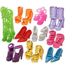 Random Shoes Heels Sandals For Barbie Doll Fashion Party Dress 2 Pairs