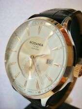 Brand New RODANIA Men's Rhone 43mm Swiss Watch Gold 2516623