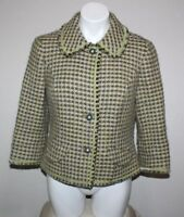 SIGRID OLSEN Womens Wool Blend Tweed Blazer Jacket Size M