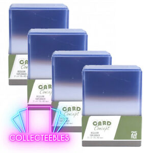 Card Concept 100 Standard Size Card Toploader Protector - Similar to Ultra Pro