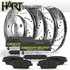 FULL KIT Platinum Hart *DRILLED & SLOTTED* Brake Rotors + Heavy Duty Pads H1775