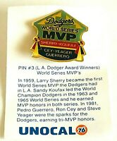 Pin #3 L.A. Dodger Award Winner World Series MVP's Larry Sherry Pin Unocal 76