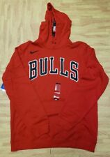 Mens Nike Chicago Bulls Pullover Hoodie 911744-657 Red/Black Brand New Size L