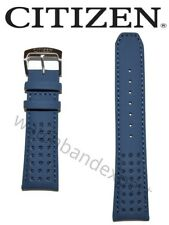 Original Citizen Blue Angels AT8020-03L Blue Leather Watch Band Strap Bracelet