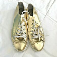 40abe49b5028 CONVERSE Metallic Gold Leather Chuck Taylor All Stars Shoes Low Top Size EU  37