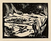 Firelight Flickering on the Ceiling of the World : J. Savio :Archival Art Print