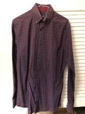 Men's gap long sleeve shirts small size purple check
