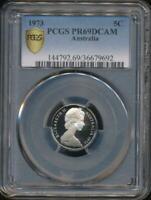 Australia, 1973 Five Cents, 5c, Elizabeth II - PCGS PR69DCAM (Proof)