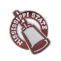 Mississippi State Bulldogs NCAA Bell Iron On Embroidered Patch