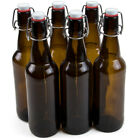 6-Pack 33 oz. Grolsch Glass Beer Bottles - Homebrew Alcohol Tea & Soda