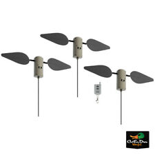 LUCKY DUCK 3 PACK FIELD FLASHERS WITH REMOTE SPINNING WING DUCK DOVE GOOSE DECOY