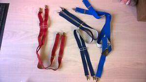 3 x Vintage Men's Trouser Braces
