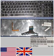 Clavier Qwerty US Int TOSHIBA Satellite A660 A665 9Z.N4YBC.01D Noir, BACKLIT