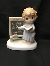 1996 Enesco Precious Moments Members Only Figurine Teach Us To Love One Another