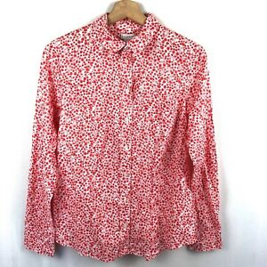 J. Crew Button Up top Cotton New Size Small Floral