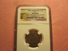 1849 Braided Hair Half Cent C1 NGC XF 45 BN