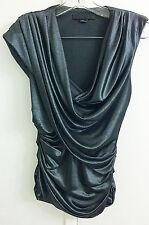 Alexander Wang Gray Silver Blouse Top Shirt Women's Size 4 S EUR S