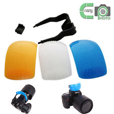 3 Color Pop Up Flash Diffuser for Canon Pentax Nikon Olympus Contax Samsung Sony