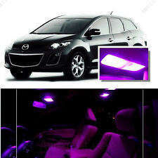 For Mazda CX-9 2007-2015 Pink LED Interior Kit + Pink License Light LED