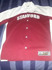 nike elite button up stanford jersey color red/white size Large