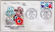 FRANCE 1969 - FDC 1597 1 FLORALIES DE PARIS 12 Avril - pn2