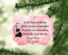 Personalized Expecting Baby Girl Christmas Ornament