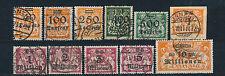 Danzig Infla Aufdrucke 1923 Michel 158-168 geprüft 2 x Befund + Attest (S14351)