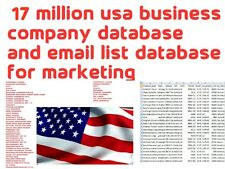 17 MILLION USA Business/Company Database and Email List & Phone Numbers