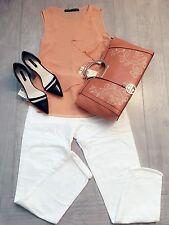 ZARA Women's  Ripped Jean(White,  US 8/Eur 40)