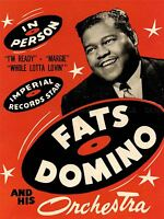 MUSIC CONCERT ADVERT FATS DOMINO ORCHESTRA LEGEND USA ART POSTER PRINT LV6893