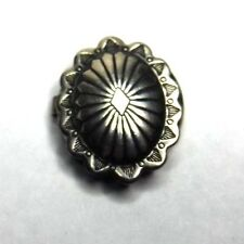 """Concho Styled Button Cover Southwestern 11/16"""" Silver Oval"""