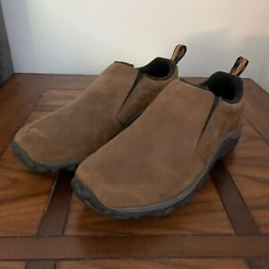 Merrell Jungle Moc Slip On Outdoor Air Cushion Shoes Mens Size 9.5 Brown J60831