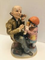 Vintage 1970's a Price import Japan Doctor And A Child With Doll Ceramic Figure