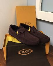 $495 TOD'S*2017 LIMITED EDITION Sz 11UK/12US CITY Loafers Driving Shoes BURGUNDY