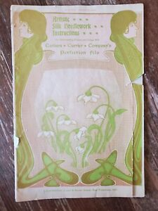 1910 Art Nouveau Silk Needlework Booklet Carlson Currier San Francisco