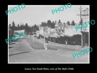 OLD LARGE HISTORIC PHOTO OF LEURA NSW, VIEW OF THE MALL SHOPS c1940s