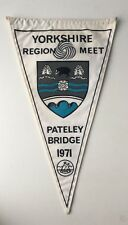 Vintage 1971 Camping Club of Great Britain Pennant Flag Pateley Bridge Yorkshire