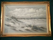 Beach landscape painting by Antonio A