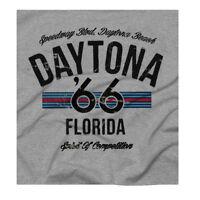Daytona beach Speedway Nascar Motocross Retro U.S. Racing Print Grey T-shirt