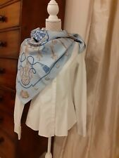 HERMES silk scarf  with box  (90cm square) never worn