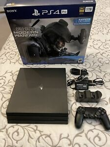 Sony PlayStation 4 Pro 1TB Call of Duty: Modern Warfare Console Bundle - Jet...