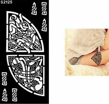 Indian Festival Temporary Tattoo Henna Arm Hand Stencils Template UK
