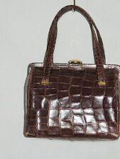 Darling 1940's Brown Crocodile Box Purse