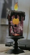 Animated LED Halloween Candle Revolving Shimmering Scene  NewGhost in Box