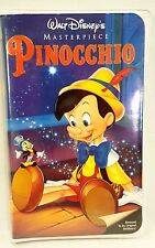 WALT DISNEY PINOCCHIO VHS MASTERPIECE COLLECTION 1993 VINTAGE RARE